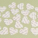 250 Ivory Cream Personalised Heart ..
