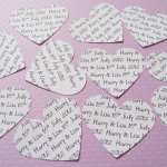 450 x 2 inch Personalised Text Hear..