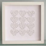 Personalised Text Hearts Frame - Pe..