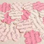 1000 x Personalised Pink Confetti -..