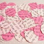 500 x Personalised Pink Confetti - ..