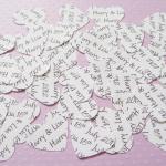 200 x Personalised Confetti Hearts ..