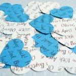500 x Personalised Blue Confetti - ..