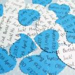 100 x Personalised Blue Confetti - ..