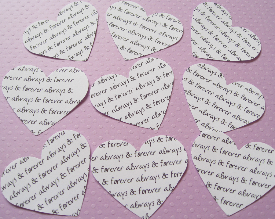 150 x 2inch Personalised Custom Heart Confetti - Great for Weddings, Invites, Table Decor, Favours, Parties