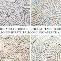 500 x Pride and Prejudice Confetti - Choice of 4 shapes - Great for Weddings, Invites, Decor, Favours
