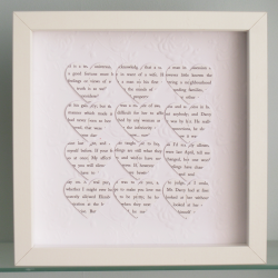 Personalised Text Hearts Frame - Perfect for Engagements, Weddings, or Anniversaries - Rose Embossed background