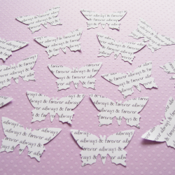 75 x 2 Inch Personalised Custom Butterflies - Great for Weddings, Invites, Table Decor, Favours