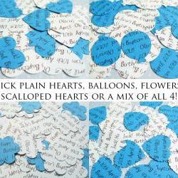 200 x Personalised Blue Confetti - 4 Shapes to Choose - Great for Baby Showers, Christenings, Birthdays